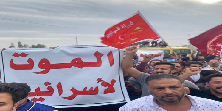 شعار مرگ بر اسرائیل در اعتراضات عراق/ تاکید الفتح بر دخالت کشورهای غربی-عربی